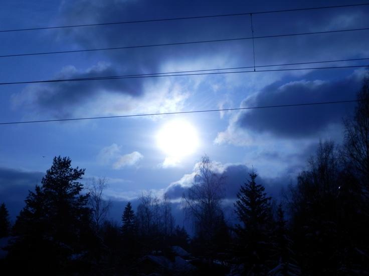 """Saunakallio,Finland  """"Winter Sun"""""""