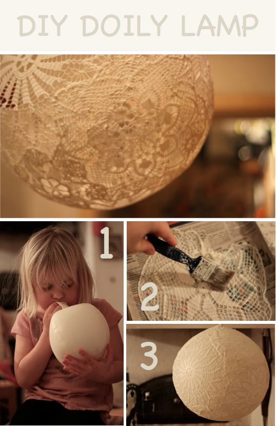 How to make doily lamps. Scatter these DIY #lamps around your wedding venue for the wow factor.