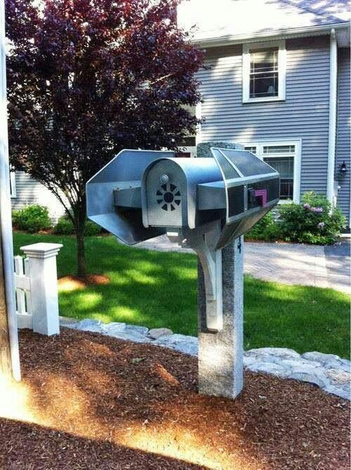 Darth Vader Tie Fighter Mailbox. Cool!