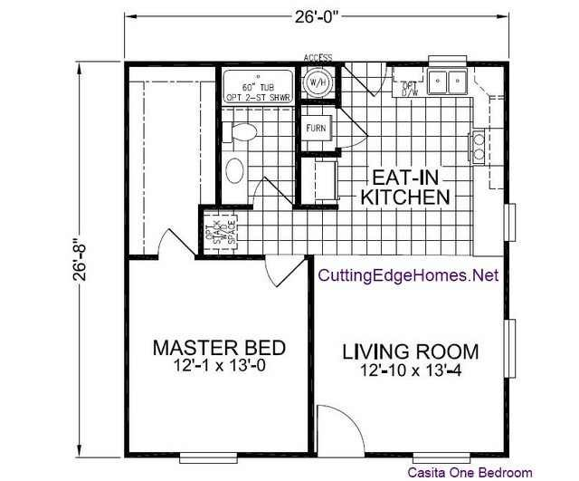 Small house floor plan 26x26   floor plans   Pinterest   Small Houses