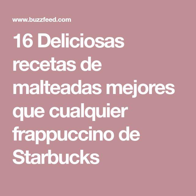 16 Deliciosas recetas de malteadas mejores que cualquier frappuccino de Starbucks