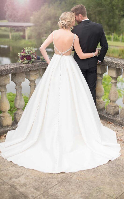46a9985b368 D2479 Beaded Backless Wedding Gown by Essense of Australia