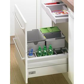 Poubelle de tri sélectif sous évier 3 seaux, Innoflex 600 - tiroir ou porte sous l'évier ?
