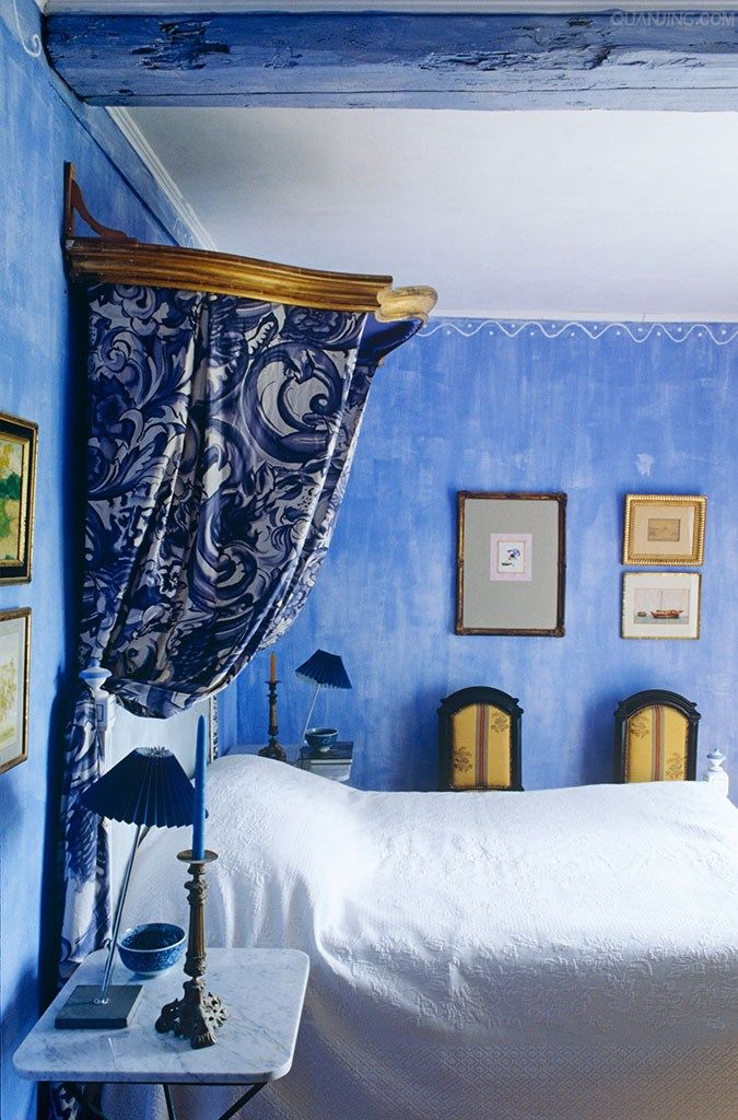 blue bedroom in Provence. 1000  ideas about Blue Bedrooms on Pinterest   Blue bedroom colors