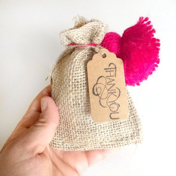 6 burlap bags  jute bags  3x5 inches small burlap bags  by kaalen, $4.00