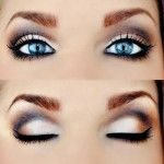 Mary Kay Eye Colours in Spun Silk or Honey Spice with Steel in crease line would recreate this look with Steely Eyeliner and either Lash Love or Ultimate Mascara. Book a complimentary Makeup Consultation to try this look for yourself.....lots of tips and application advice...share it with up to 3 friends for some fun girly time.