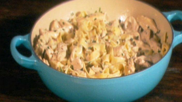 Gino de Campo's Fettuccine con pollo e Dolcelatte