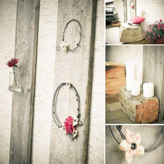 Gli addobbi per decorare il terrazzo o il balcone in stile romantico vintage