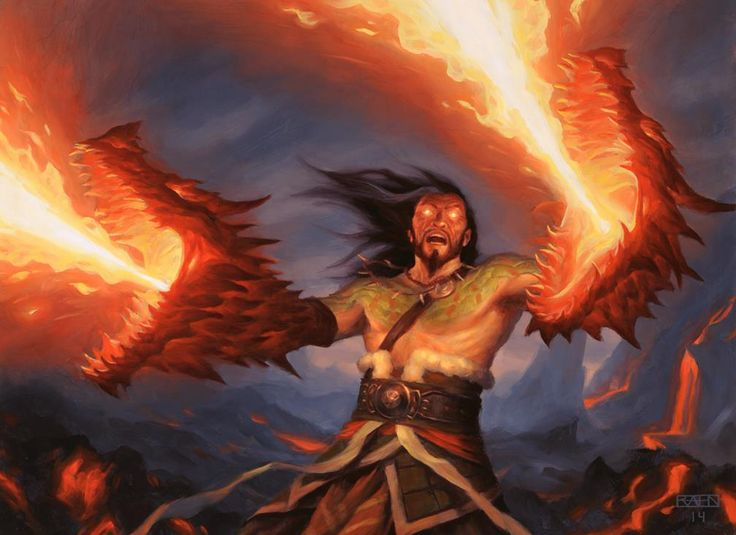 Here's another from the new MtG set, Sarkhan's Rage.