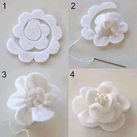 Pasos para  hacer una flor