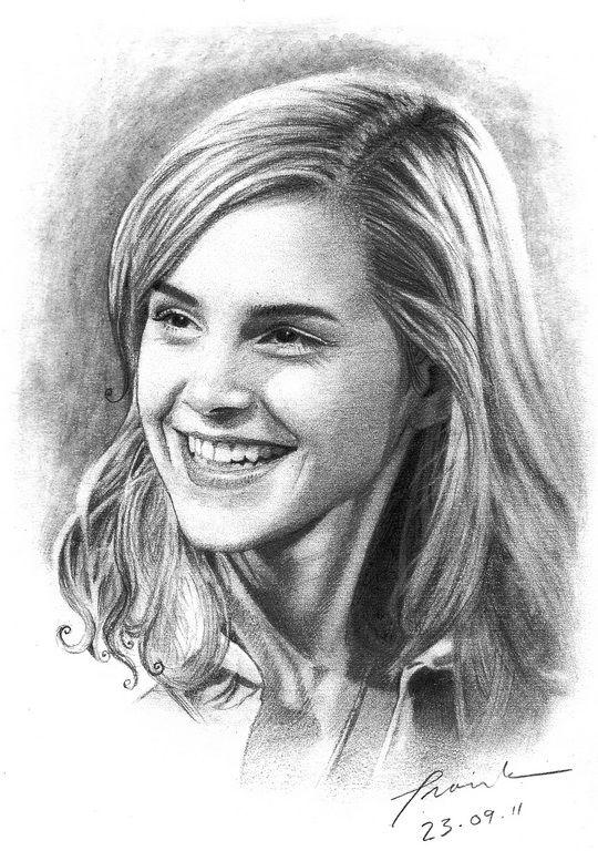 Emma Watson ©2011-2012   FrankGo  Pencil (2H, 2B, 4B, 8B) + Mech.Pencil 2B on Paper