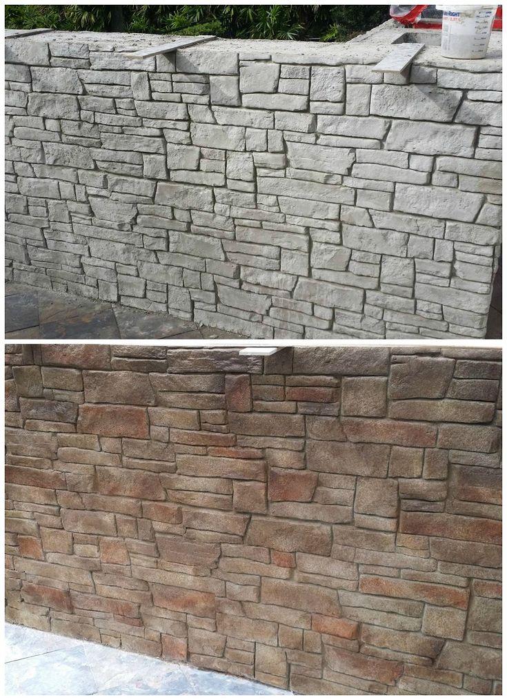 Stamped Concrete Wall Patio Contractor Orlando Fl