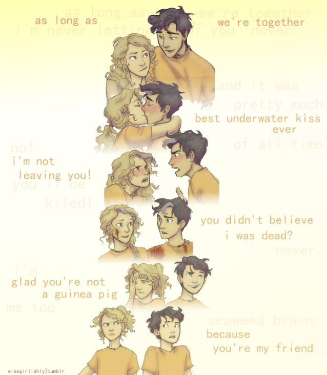 Percy Jackson and Annabeth Chase through the years — ALL THE FEELS!