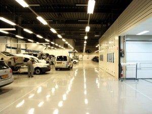 Foto's van onze industrie projecten - Coating Vloer