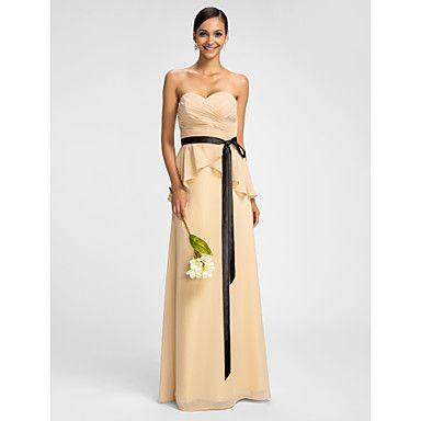 Bridesmaid Dresses in Jade instead of cream...Sheath/Column Sweetheart  Floor-length Chiffon  Evening Dress – USD $ 119.99