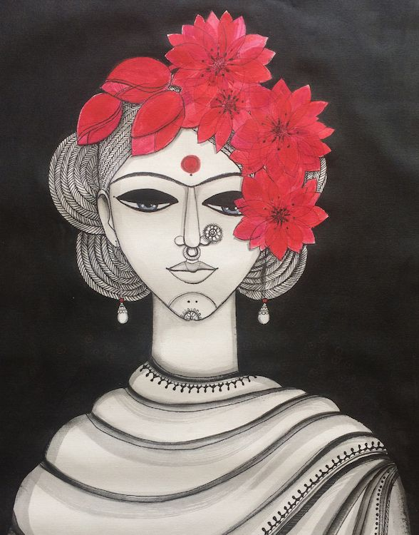 Lotus girl/ Mona Biswarupa/Collectiivitea
