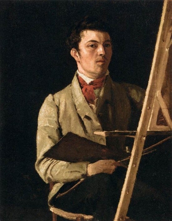 """장 밥티스트 카미유 코로(Jean Baptiste Camille Corot)의 자화상 / 프랑스 부르주아 집안 태생의 신고전주의 화가로 끌로드 모네가 """"그에 비하면 우리는 아무것도 아니다""""라고 극찬했을 정도로 인상파 화가들에게 영감을 안겨주었으며 풍경화의 대가였다."""