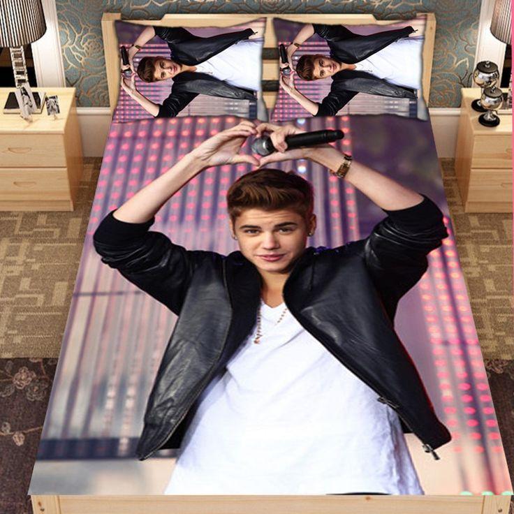 Justin Bieber customised Han Cotton bed set bed