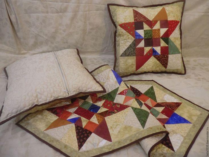 """Купить Лоскутные подушки """" Кантри"""" - комбинированный, лоскутная подушка, лоскутная салфетка, пэчворк, интерьер"""