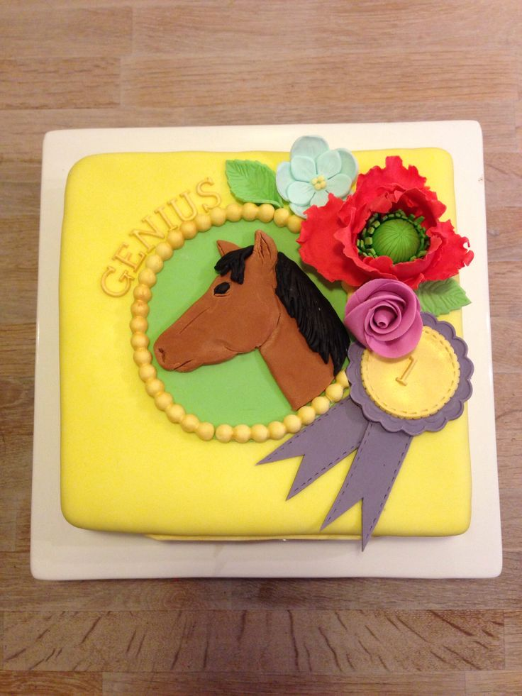 Cake for a horse lover