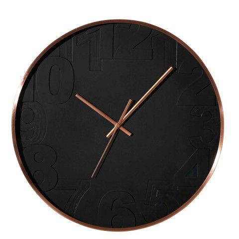 Black & Copper Wall Clock | MINT Interior Design