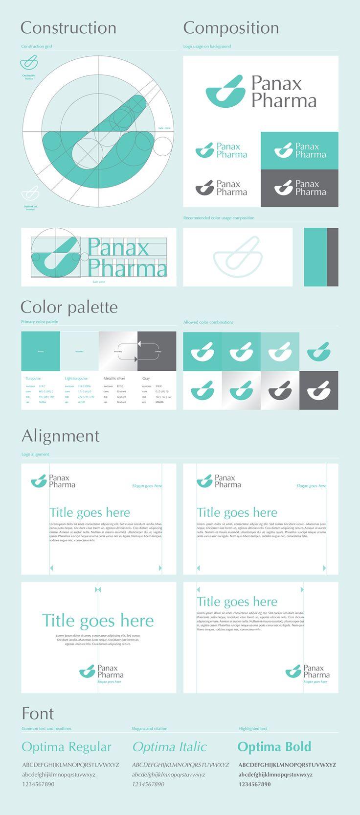 Panax Pharma logo design guidelines.