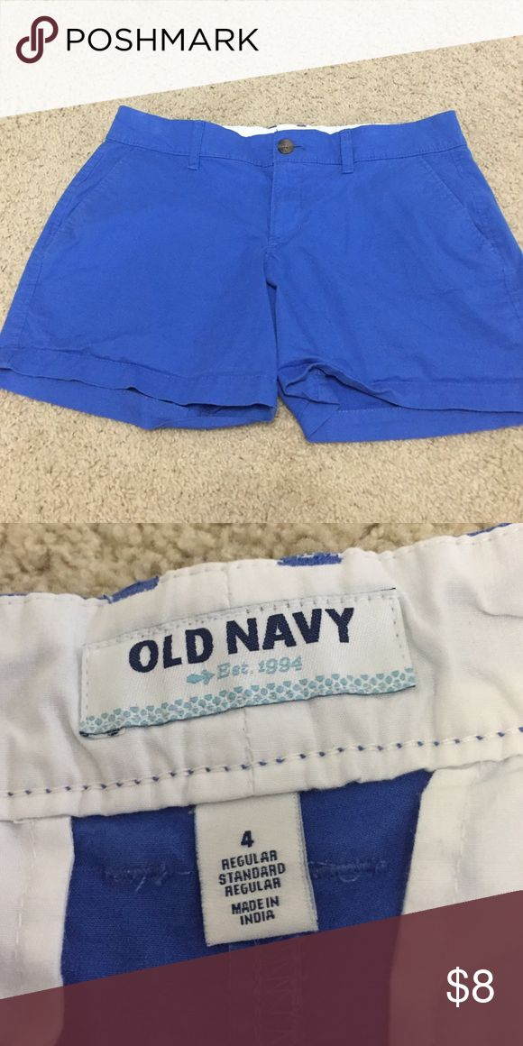 Old navy blue shorts Super cute just too small for me! Worn a couple of times but perfect condition. Old Navy Shorts