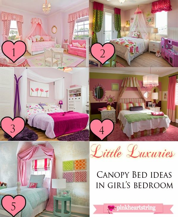 Little Luxuries 3: Canopy Bed Ideas for Girls Bedroom ~ Pink Heart String