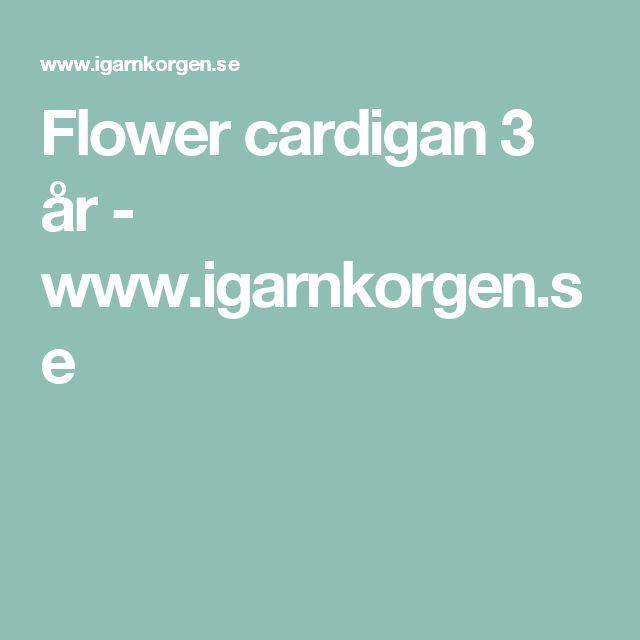 Flower cardigan 3 år - www.igarnkorgen.se