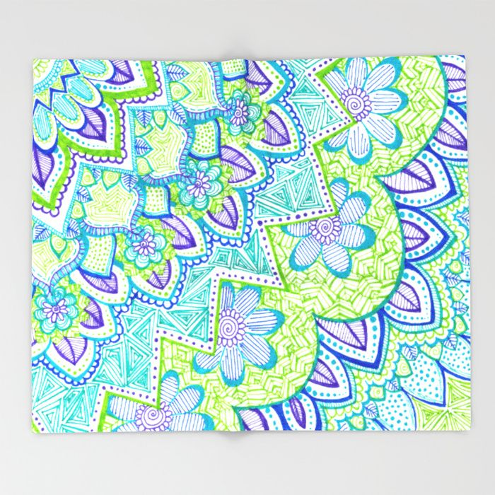 Sharpie Doodle 2 Throw Blanket by Kayla Gordon | Society6