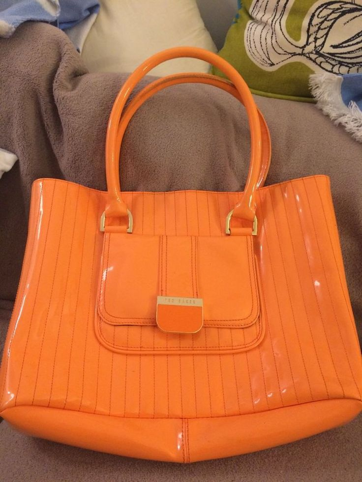 Ted Baker Large Orange Shoulder Bag