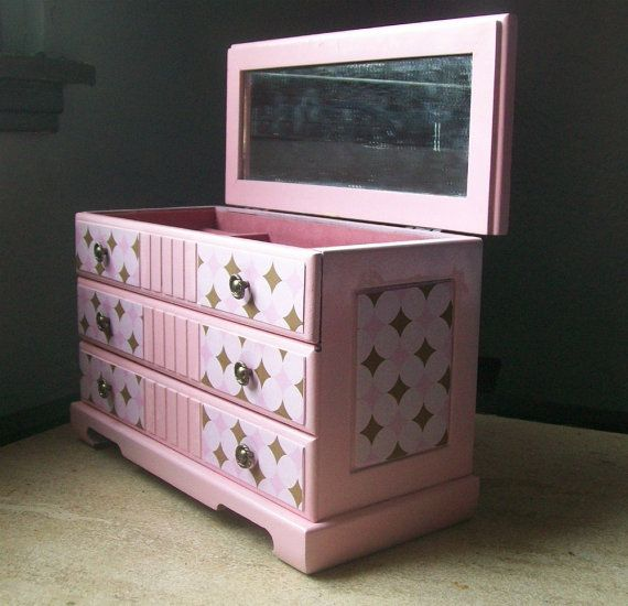 131 best jewelry box makeover images on pinterest for Old jewelry box makeover