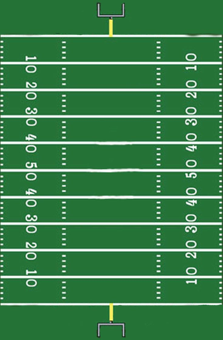 football field template I made for a sign