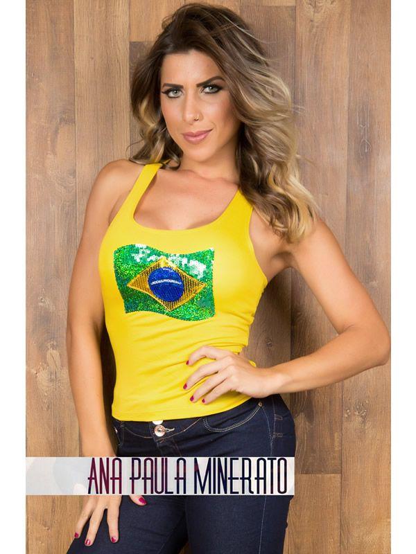 812213e18 Regata do Brasil Copa do Mundo Russia 2018 Temático Roupa Feminina Camiseta