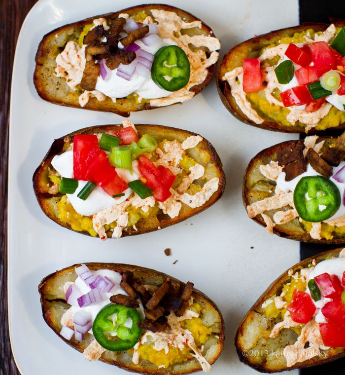 These Vegan potato skins look gorgeous and