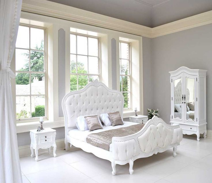 French Furniture Interior Design with french beds louis elegance bed white