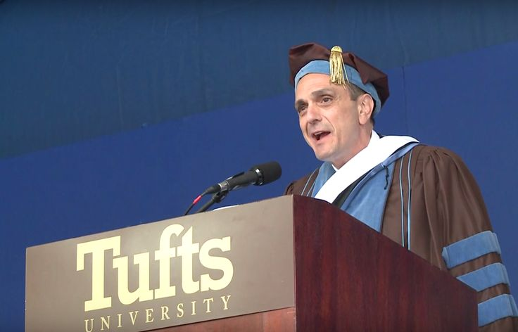 Voice actor Hank Azaria addresses Tufts University grads as characters from The Simpsons