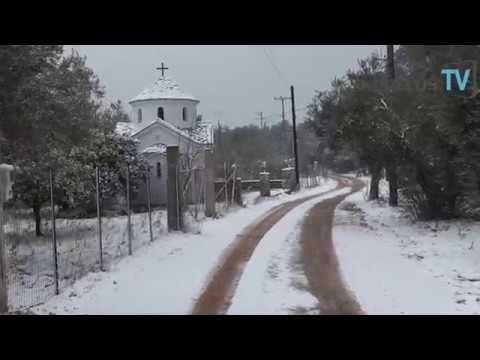 Σκόπελος : Μισό μέτρο χιόνι ανά περιοχές στη Σκόπελο 7/1/2017