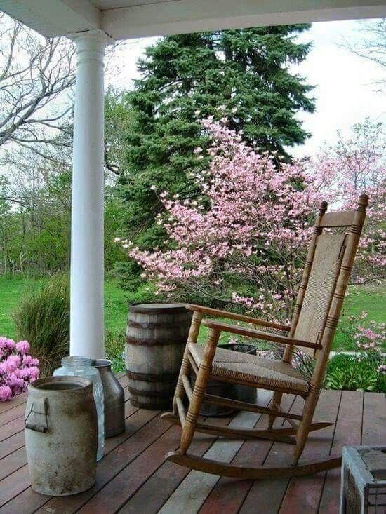 Country Porch Decks Porches Porch Decorating Rocking