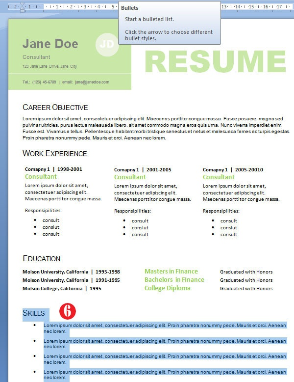 Professional Resume Design for Non-Designers...beautifully designed resume, this will stand out