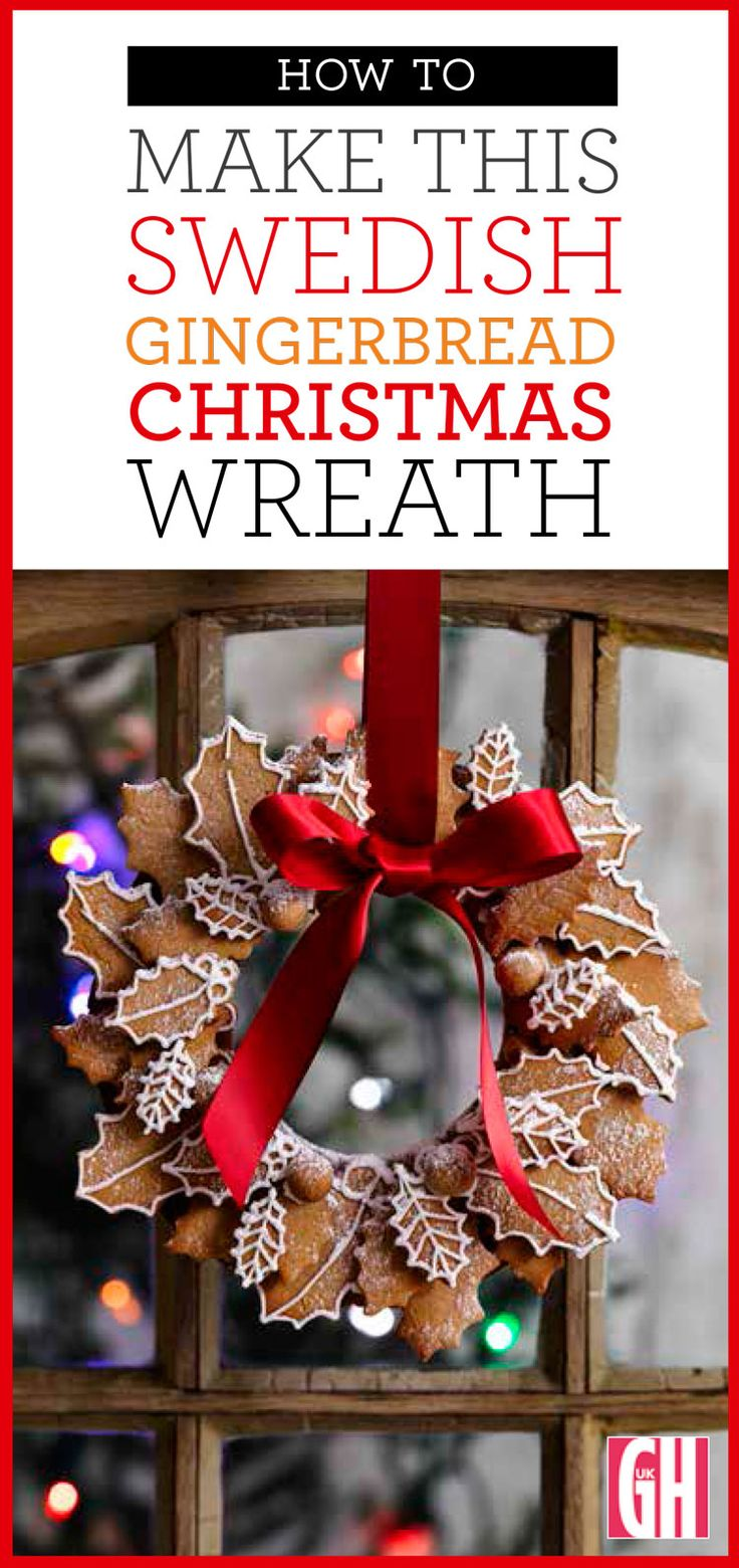 This classic Swedish gingerbread recipe has a characteristic snap. This Christmas recipe makes two wreaths, one to give and one to keep!