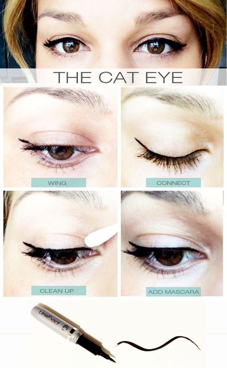 DIY Cat Eye Tuturial  // http://www.covergirl.com/eye-makeup/eyeliner/line-exact-liquid-eyeliner