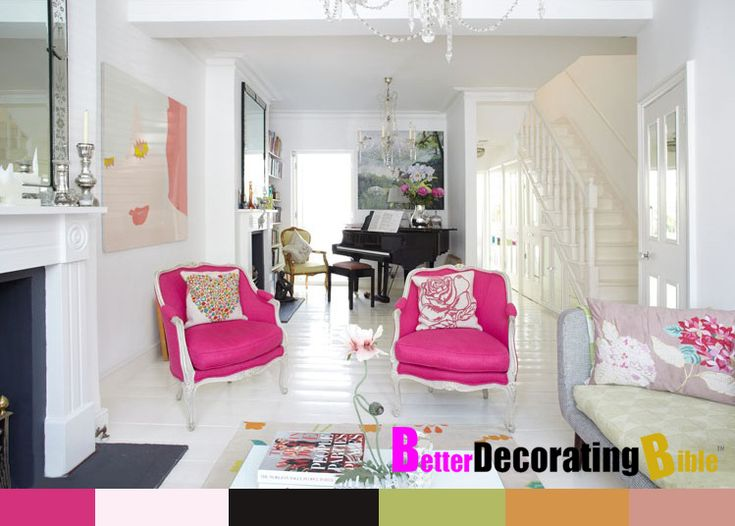 Uber Chic Modern Victorian Decorating Colorful Pops Of Color Diy