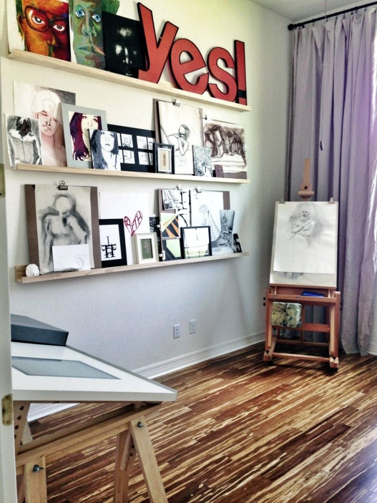 Art Studio | The Smithocracy - exactly what I want to do in my studio - ledges