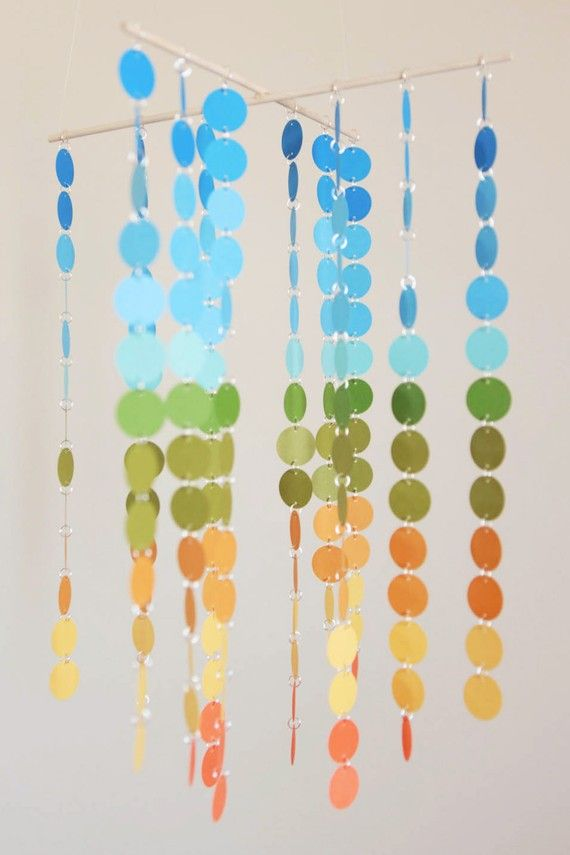 Some very cool ideas done with paint chips: Paint Chip Inspiration form The Ugly Duckling House
