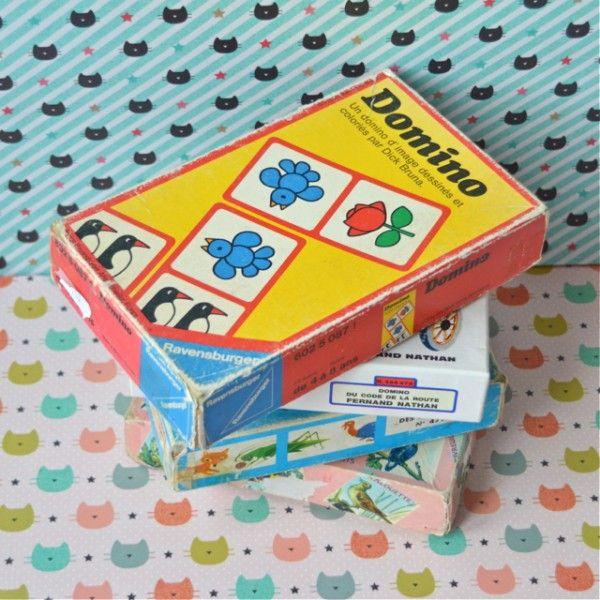 Dominos rouge ravensburger vintage - deco-graphic.com