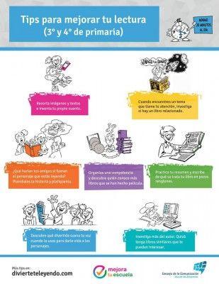 Tips para mejorar tu lectura (3° y 4° de primaria)