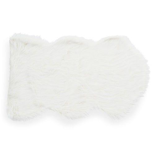 Eskimo - Tapis en fausse fourrure blanc 60 x 100 cm