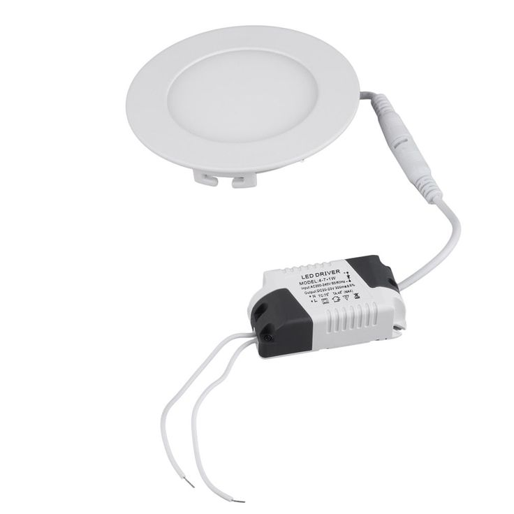 120mm Round LED Recessed Ceiling Light FCC 2700K/4000K/6500K (Light), White (Aluminum)