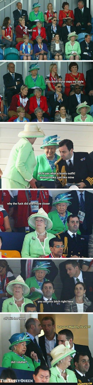 Funny Queen Elizabeth Off With Her Head!